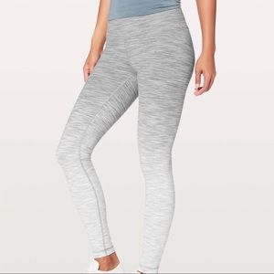 Lululemon Wunder Under High Rose Ombré Melange S 6